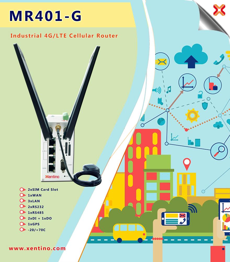 Xentino MR400 Serisi Dual SIM 4G/LTE Endüstriyel Router - Yeni Ürün